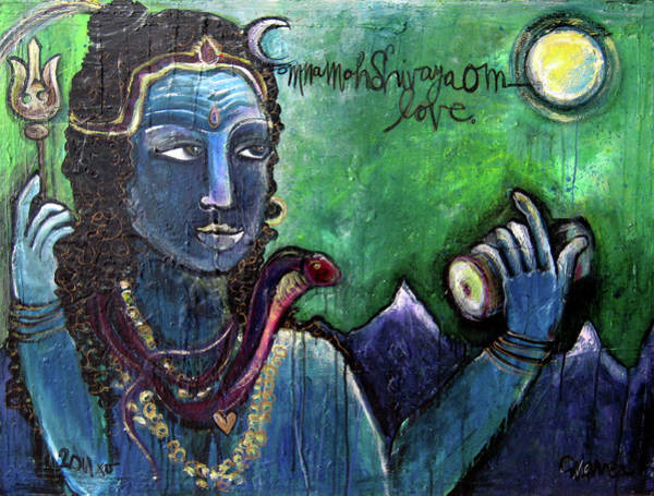 Painting - Love For Shiva by Laurie Maves ART