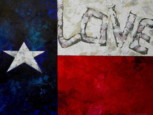 Painting - Love For Texas by Patti Schermerhorn