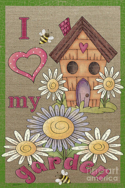 Birdhouse Painting - Love Garden by Jean Plout