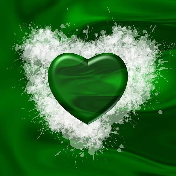 Digital Art - Love Green Over Green by Alberto RuiZ