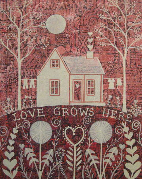 Valentines Painting - Love Grows Here by Mary Charles