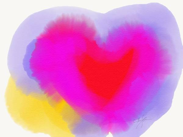 Painting - Love Heart by Cristina Stefan
