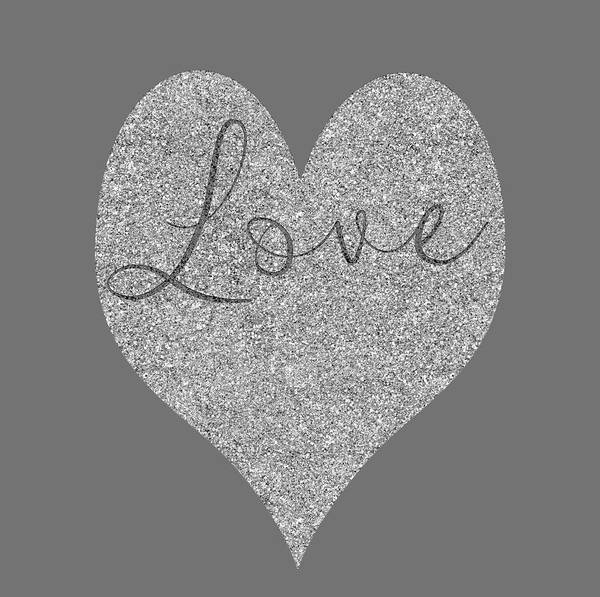 Photograph - Love Heart Glitter by Clare Bambers