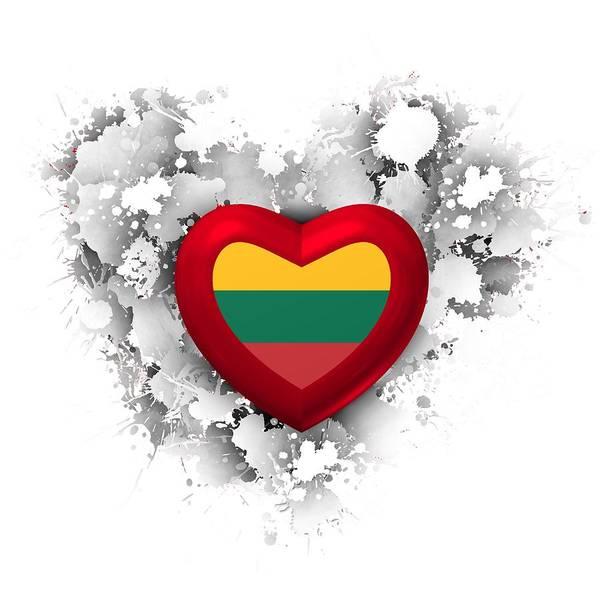 Digital Art - Love Heart Lithuania by Alberto RuiZ