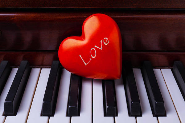 Wall Art - Photograph - Love Heart On Piano by Garry Gay