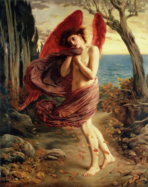 Beauty Wall Art - Painting - Love In Autumn by Solomon Joseph Solomon