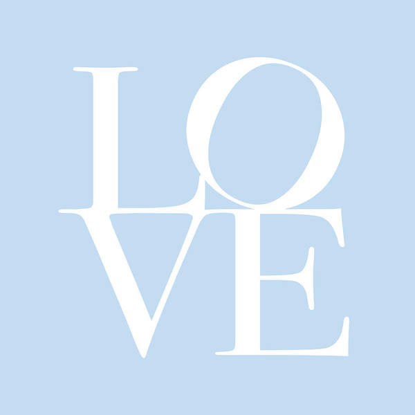 Valentines Digital Art - Love In Baby Blue by Michael Tompsett