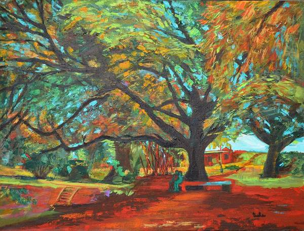Usha Painting - Love In Lal Bagh 2 by Usha Shantharam