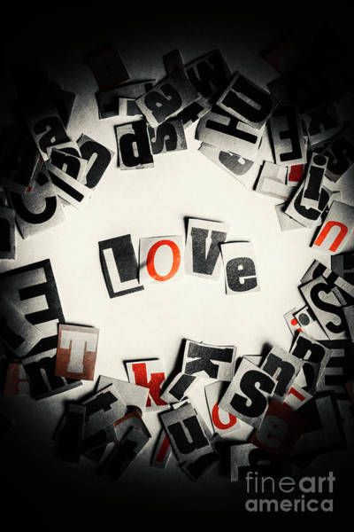 Design Photograph - Love In Letters by Jorgo Photography - Wall Art Gallery