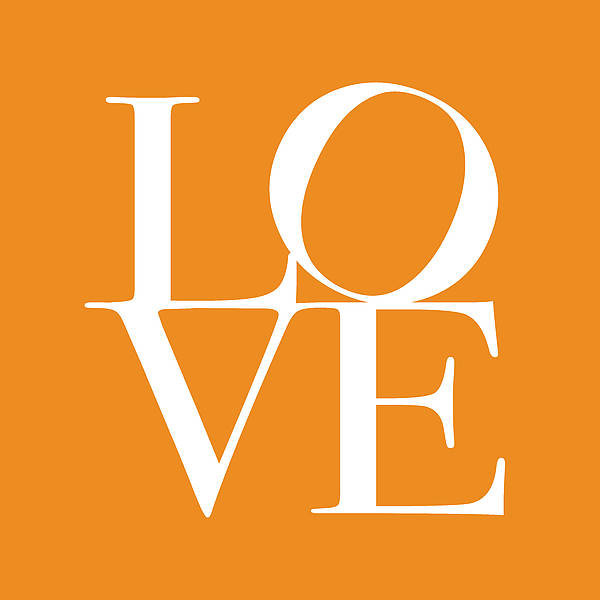 Valentines Digital Art - Love In Orange by Michael Tompsett