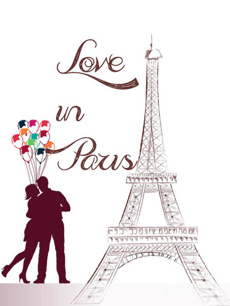 Painting - Love In Paris by Celestial Images