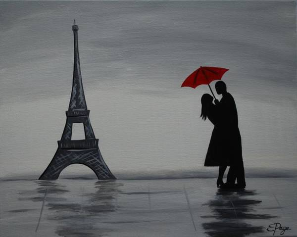 Painting - Love In Paris by Emily Page