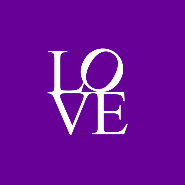Painting - Love In Purple by Celestial Images