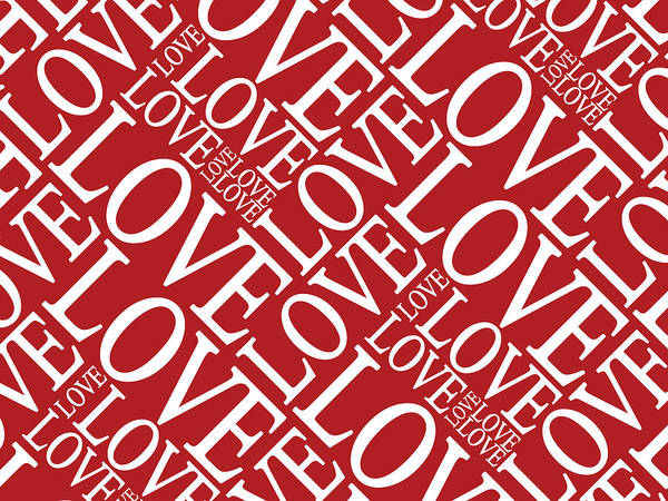Valentines Digital Art - Love In Red by Michael Tompsett