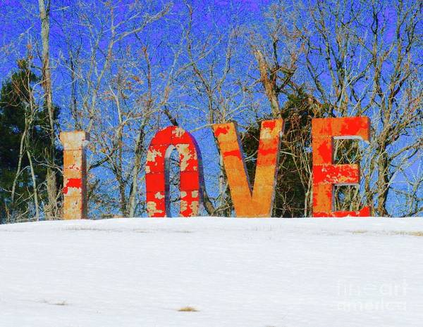 Wall Art - Photograph - Love In The Snow by Gregory E Dean