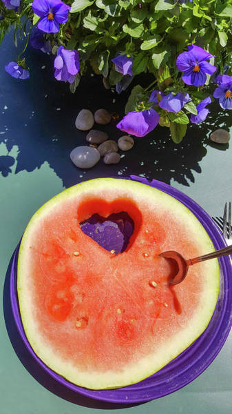 Photograph - Love In Watermelon by Lynn Hansen