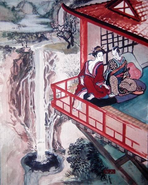 Japanese Poetry Painting - Love Is A Deep Pool by Scott Cumming