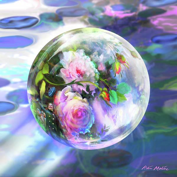 Digital Art - Love Is All Around by Robin Moline