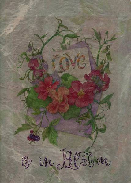 Painting - Love Is In Bloom Botanical by Judith Cheng
