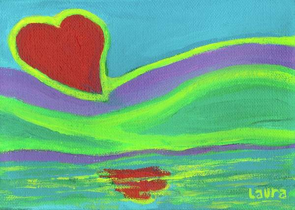 Wall Art - Painting - Love Is In The Air by Laura Zoellner