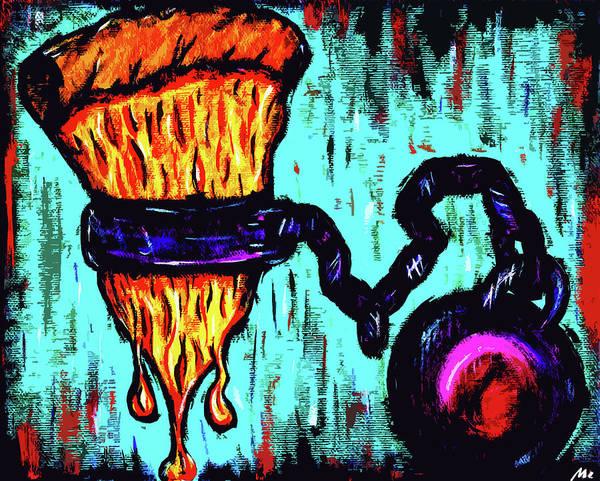Food Chain Painting - Love Is Like by Meghan Hepburn