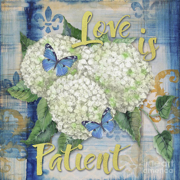 Wall Art - Painting - Love Is Patient by Jean Plout