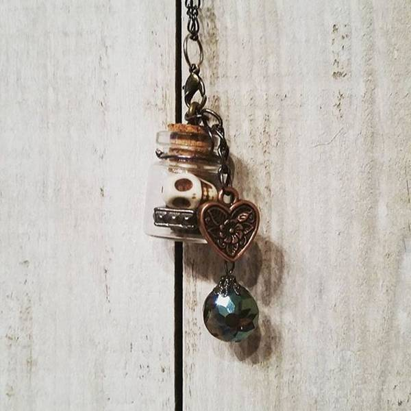 Steampunk Wall Art - Photograph - 'love Jitters' 💘💀#vial #pendant by Katie McCrary