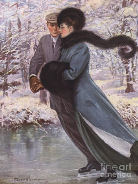 Painting - Love Laughs At Winter by Clarence F Underwood
