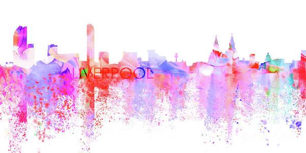 Liverpool Skyline Digital Art - Love Liverpool by J Biggadike
