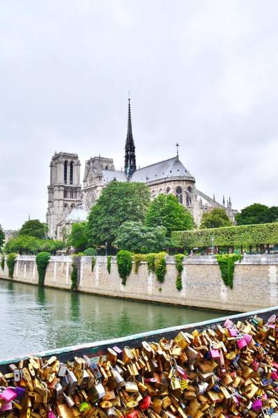 Photograph - Love Locks Across The Seine by Kim Bemis