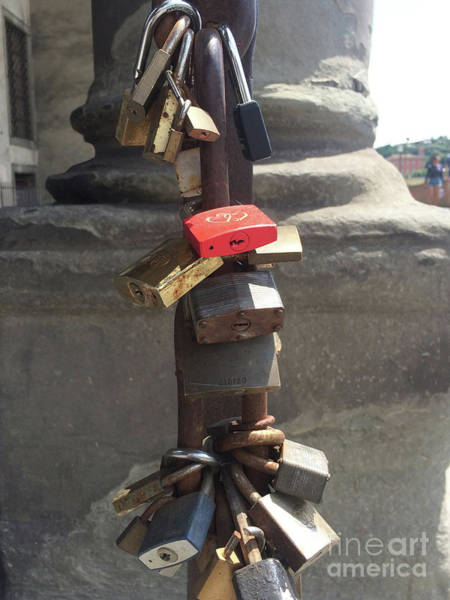 Wall Art - Photograph - Love Locks Near The Arno River In Florence Italy by Adam Long