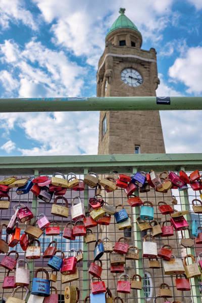 Photograph - Love Locks On St. Pauli Bridge by Fabrizio Troiani