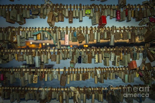 Together Forever Photograph - Love Locks  by Rob Hawkins