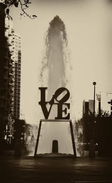Love Statue Wall Art - Photograph - Love Love Love by Bill Cannon