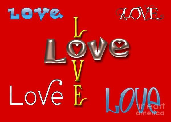 Photograph - Love Love Love by Diana Raquel Sainz