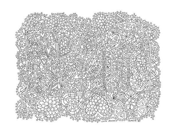 Spanish People Drawing - Love Madrid by Tamara Kulish