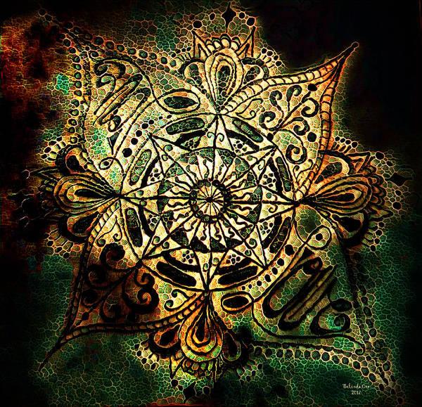Digital Art - Love Mandala Doodle by Artful Oasis