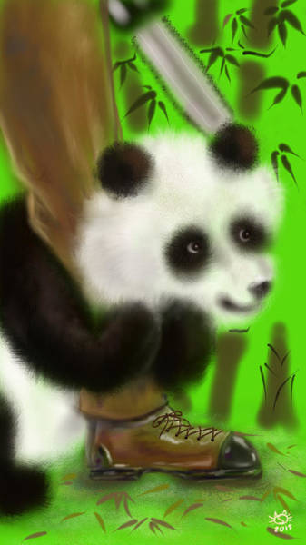Digitalart Painting - Love Me Spare Me The Bamboo Forest  by Siriporn Wachter