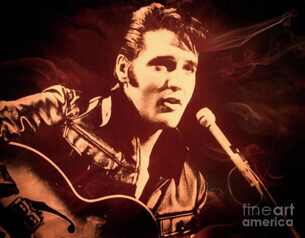 Elvis Photograph - Love Me Tender by Al Bourassa
