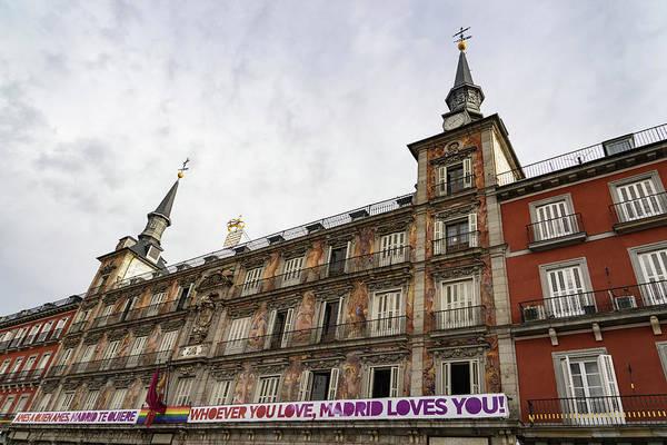 Photograph - Love Message On Plaza Mayor In Madrid Spain by Georgia Mizuleva