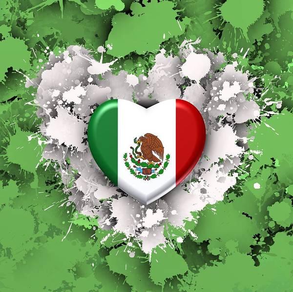 Digital Art - Love Mexico.1 by Alberto RuiZ