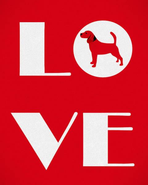 Wall Art - Mixed Media - Love My Beagle Canvas by Dan Sproul
