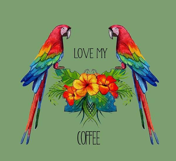 Digital Art - Love My Coffee by Ericamaxine Price
