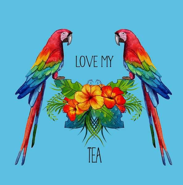 Digital Art - Love My Tea by Ericamaxine Price