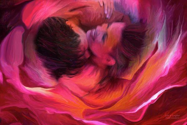 Mixed Media - Love N' Laughter 2 by Carol Cavalaris