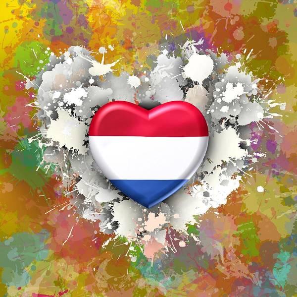 Digital Art - Love Netherlands by Alberto RuiZ
