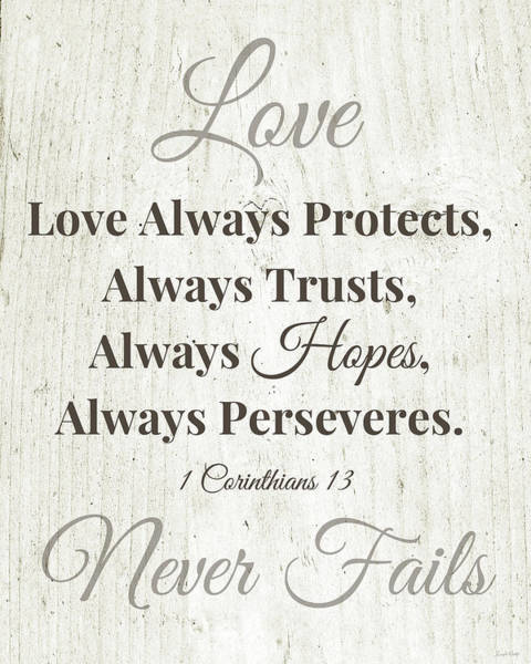 Wall Art - Digital Art - Love Never Fails- Art By Linda Woods by Linda Woods