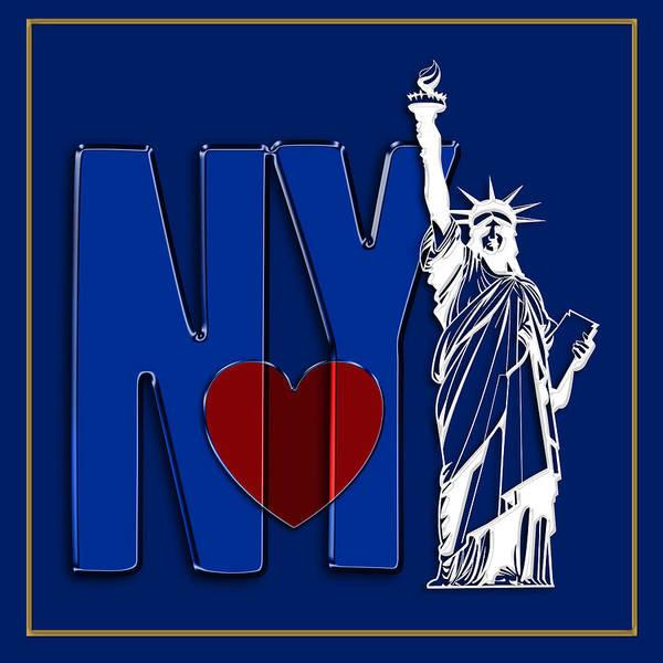 Digital Art - Love New York by Carlos Diaz