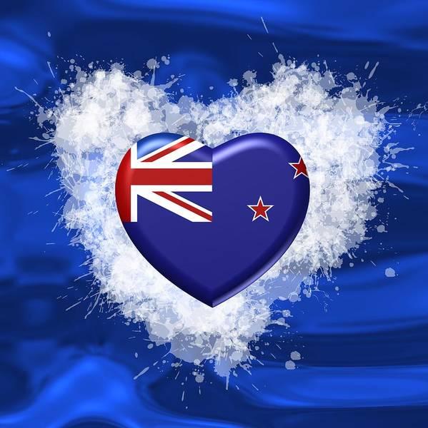 Digital Art - Love New Zealand by Alberto RuiZ