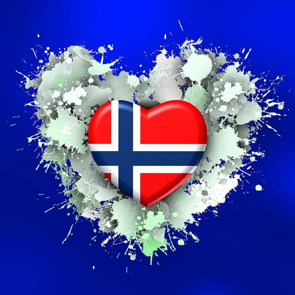 Digital Art - Love Norway 2 by Alberto RuiZ